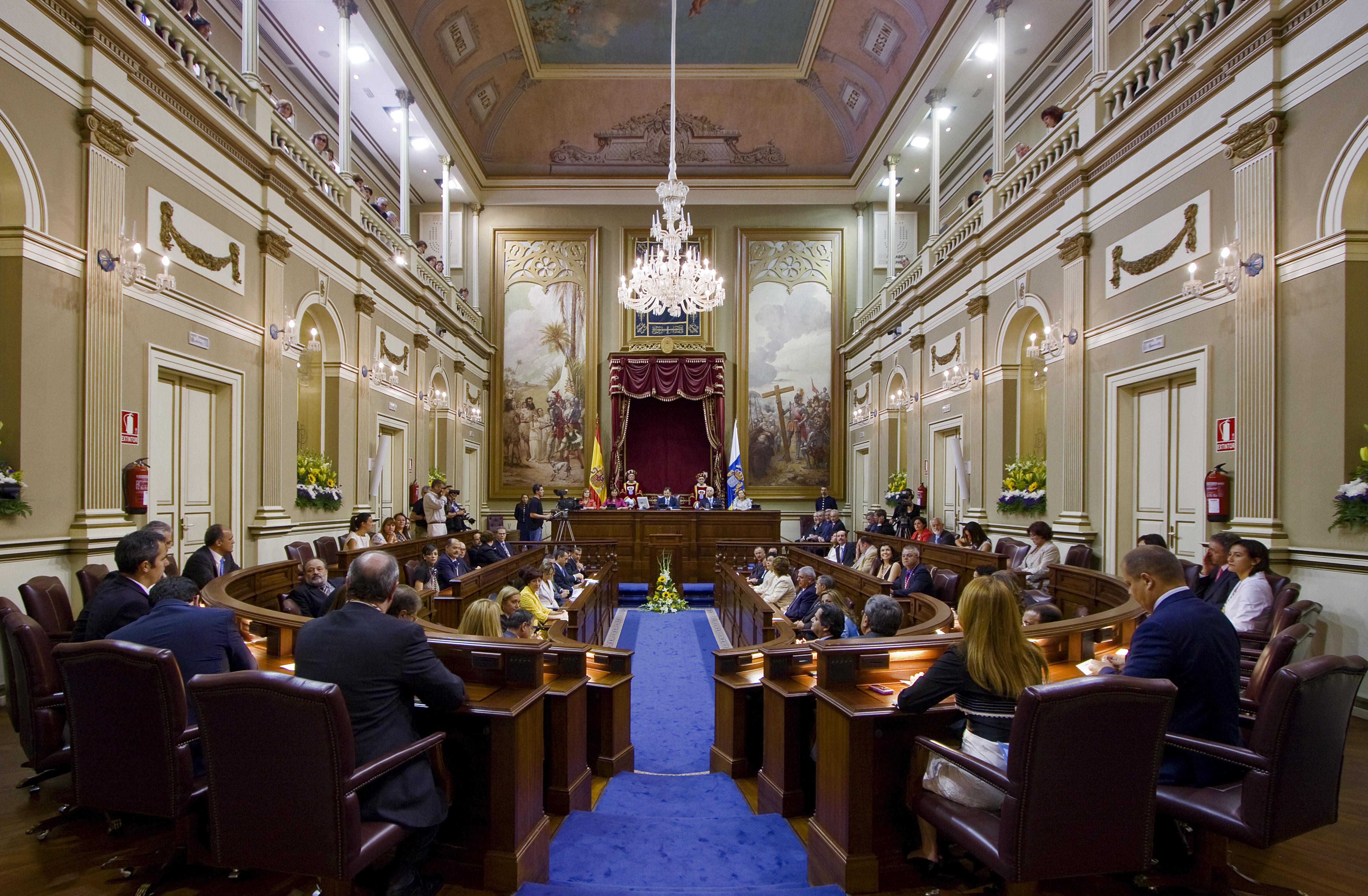 Galer a multimedia foto 1077 el sal n de plenos del for Foto del parlamento