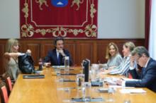 Un momento durante la reunión de la Mesa parlamentaria